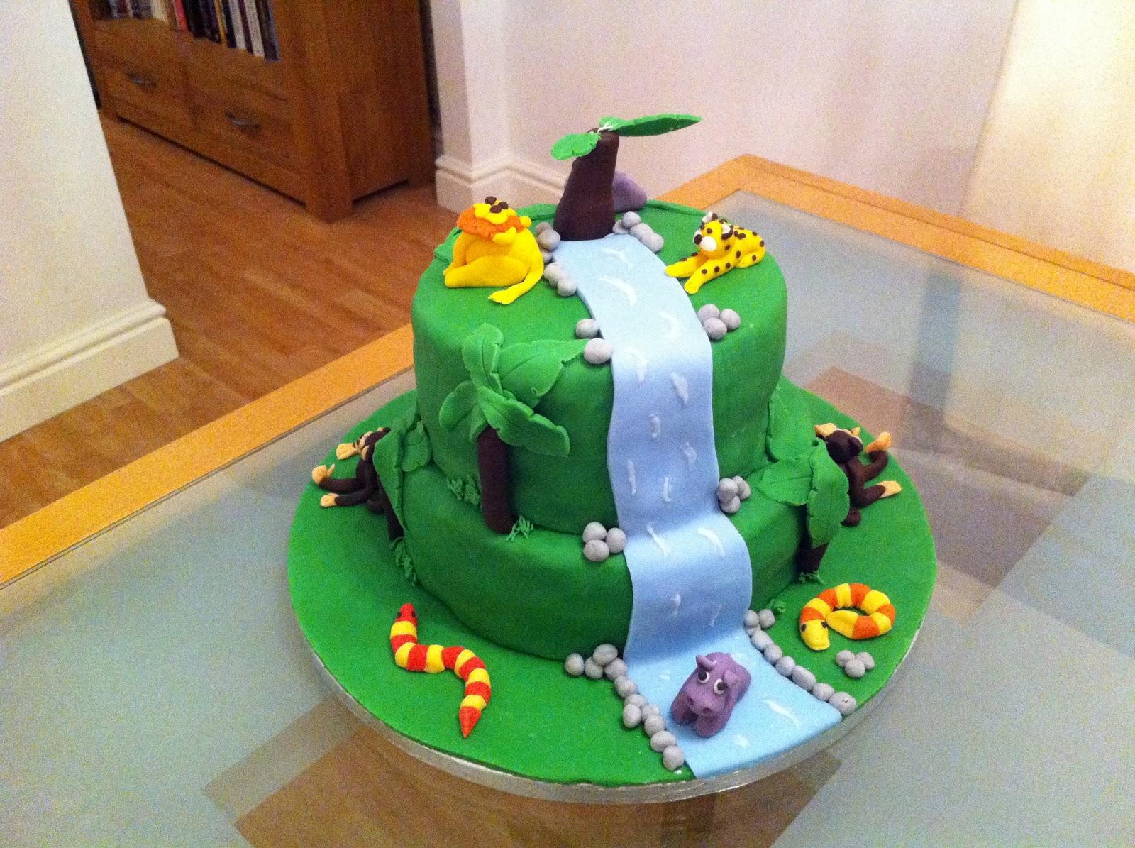 Bakes And Makes Jungle Birthday Cake