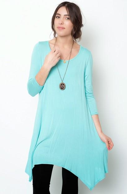 Buy online mint asymmetrical oversized hem tee dress for women on sale