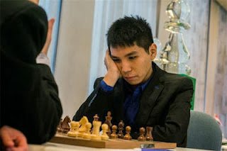 Echecs ronde 4 : Loek Van Wely (2693) 0-1 Wesley So (2706) © site officiel