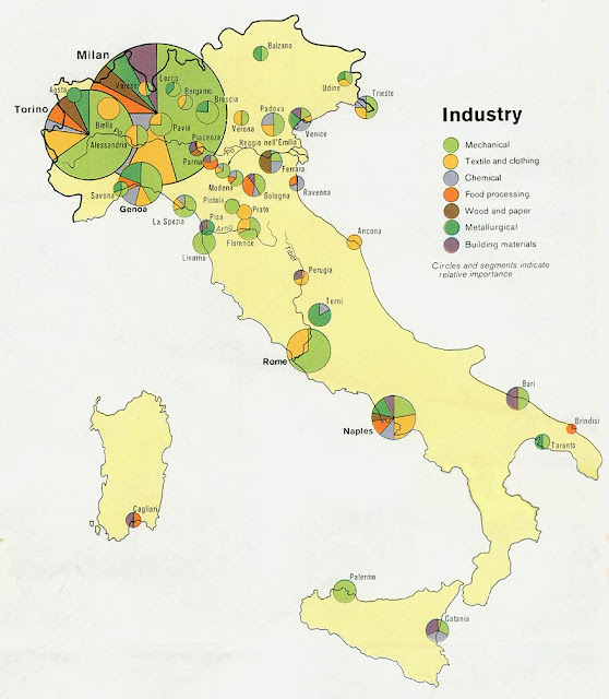 Industriale Italiano Mappa