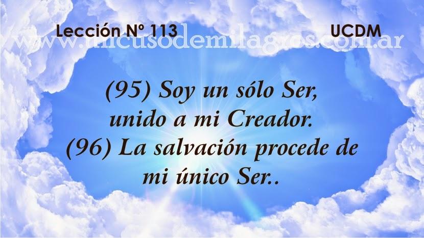 Leccion 113, Un Curso de Milagros