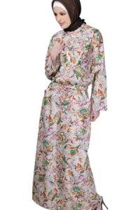 Manet Gamis - 3191 C Krem Pink Kombinasi (Toko Jilbab dan Busana Muslimah Terbaru)