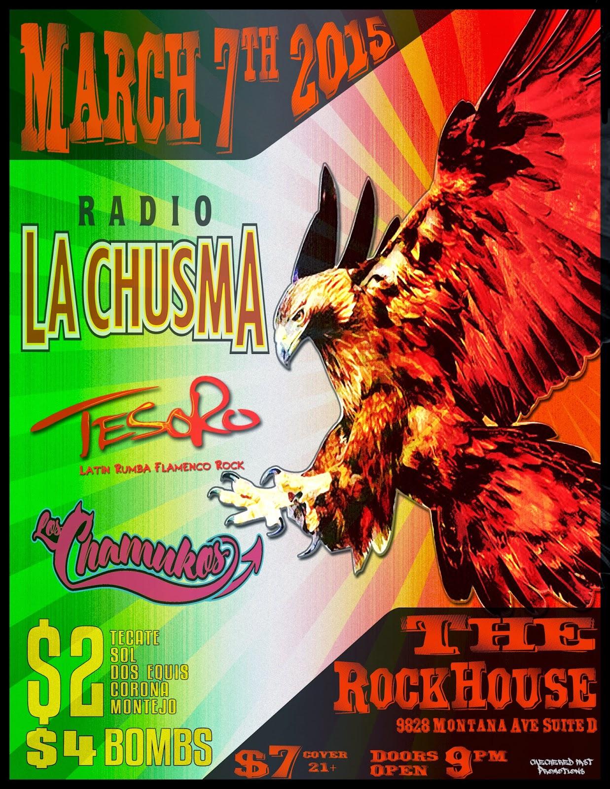 radio la chusma, rumba, reggae, el paso, live music