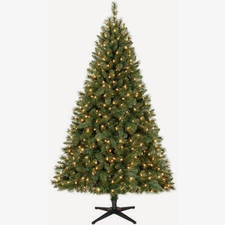 Holiday Time Pre-Lit 6.5' Windham Christmas Tree, Green, Clear Lights