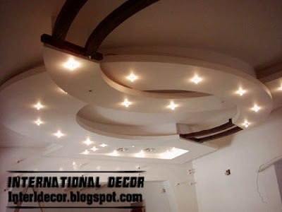 suspended ceiling, gypsum ceiling, round false ceiling interior design