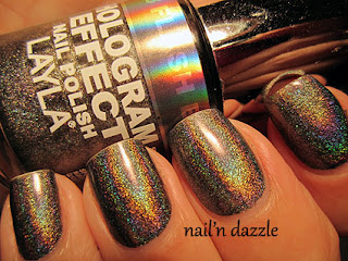 layla holo, holographic, polish, flash, black