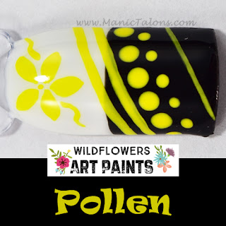 Wildflowers Nail Art Paint Pollen