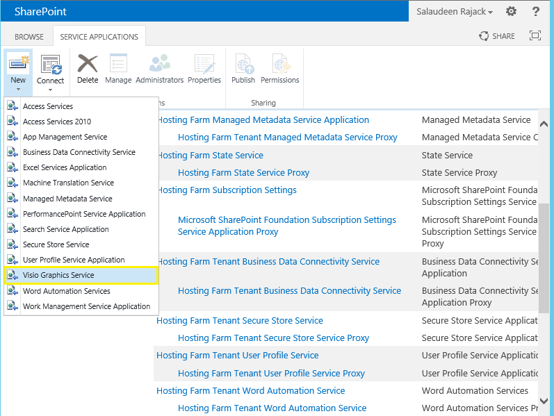 Visio Graphics service application in SharePoint 2013