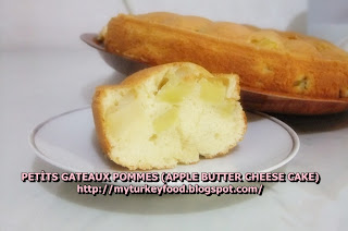 PETITS GATEAUX POMMES (APPLE BUTTER CHEESE CAKE)