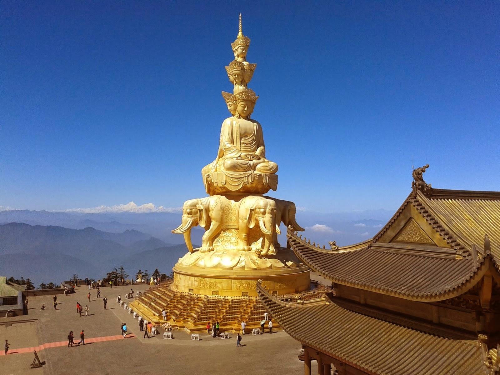 El Monte Emei, cerca de Chengdu en China