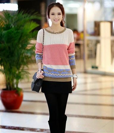 Model Sweater Wanita Korea dan Dunia Terbaru 2017/2018