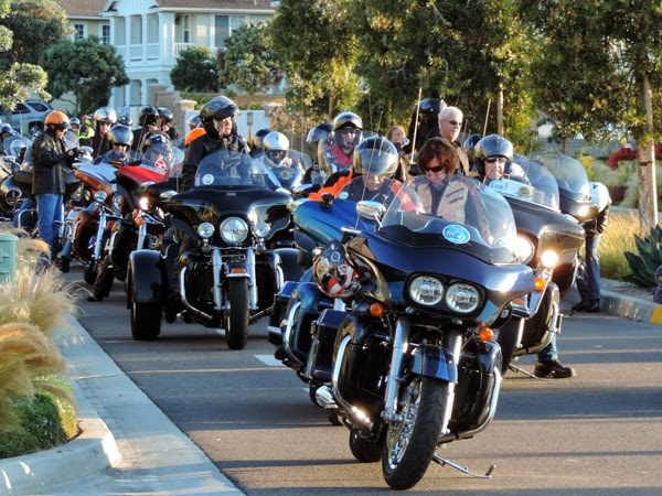 "Over 175 riders line-up for the 20th Anniversary ""Kyle Petty Charity Ride Across America."""