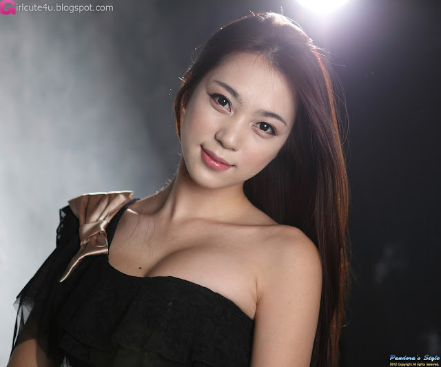 1 Ju Da Ha - Black Mini Dress-very cute asian girl-girlcute4u.blogspot.com