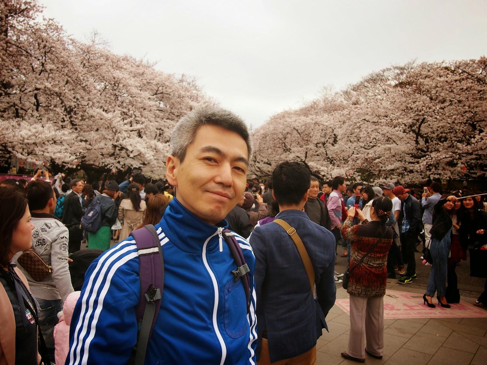 喜多直毅, 花見, 上野公園