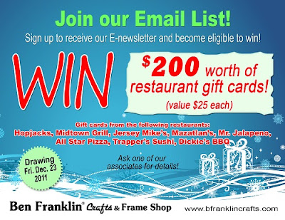 Ben franklin crafts and frame shop have you subscribed to for Ben franklin craft store coupons