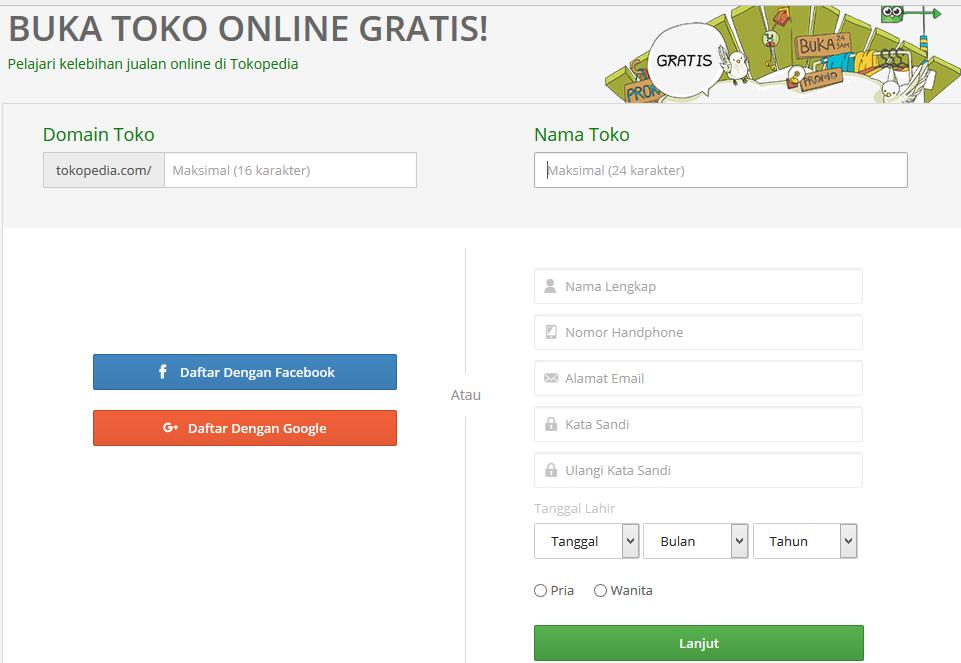 cara mudah buka toko online dan jualan di tokopedia blog sidik