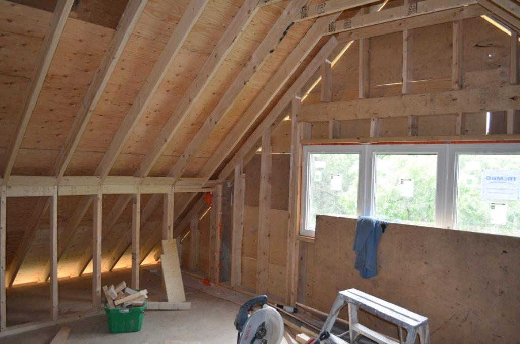 The Bennett House: The attic - with its cathedral ceilings