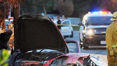 Foto Kecelakaan Paul Walker