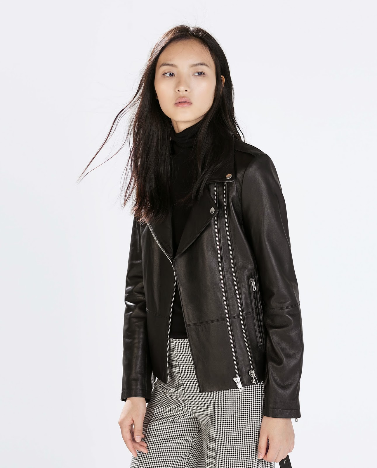zara leather black