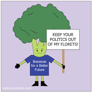 Keep your politics out of my florets; Brassicas for a better future