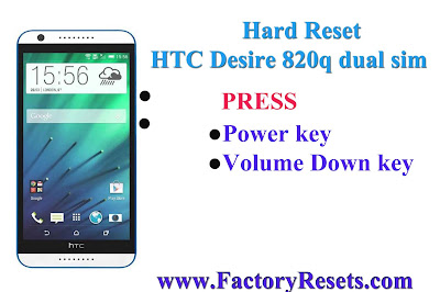 Hard Reset HTC Desire 820q dual sim