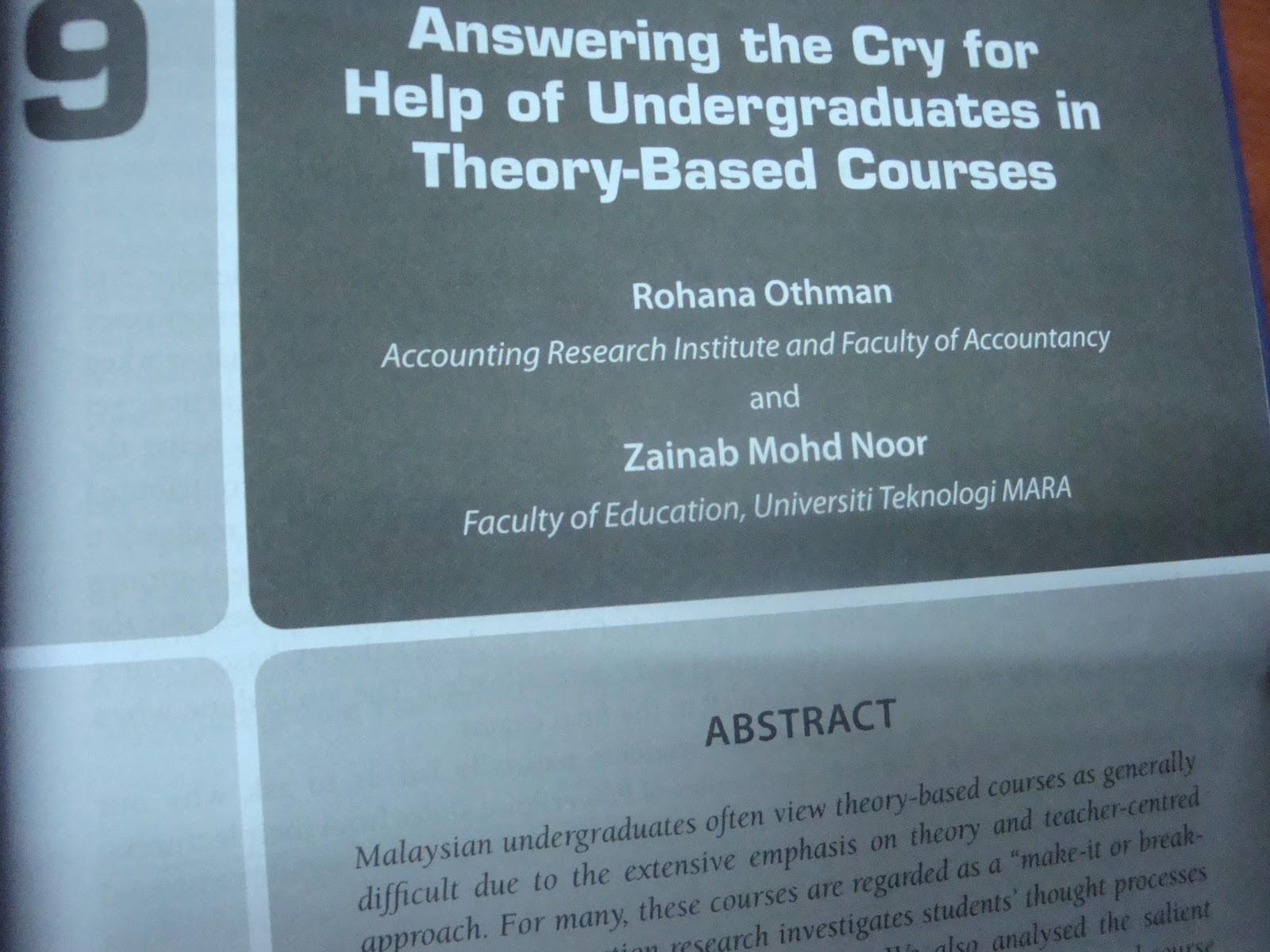 ACCOUNTING RESEARCH INSTITUTE (ARI HICoE)  Book Chapter On DSC Book Chapter On Researching Teaching In