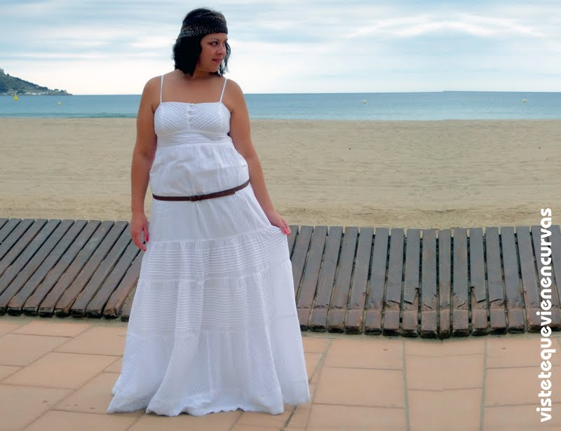 Vestido ibicenco largo talla grande
