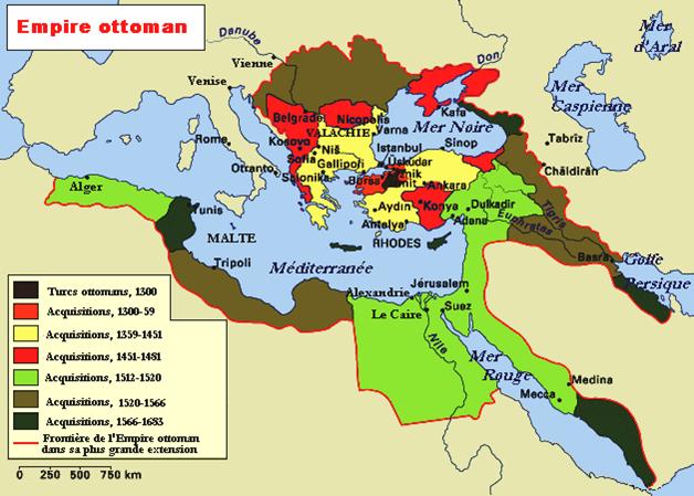 Elargissement du monde empire ottoman carte - La carte de l empire ottoman ...