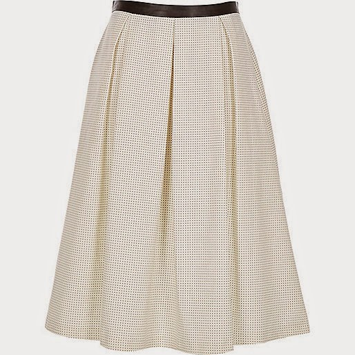 spotty skirt river island