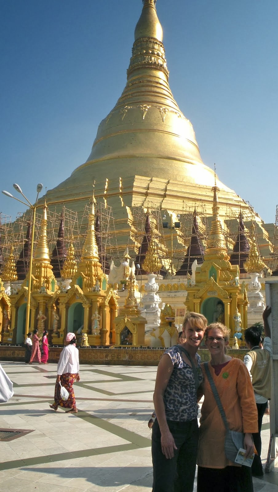I Finally Made It There!  Golden Pagoda - Yangon, Burma