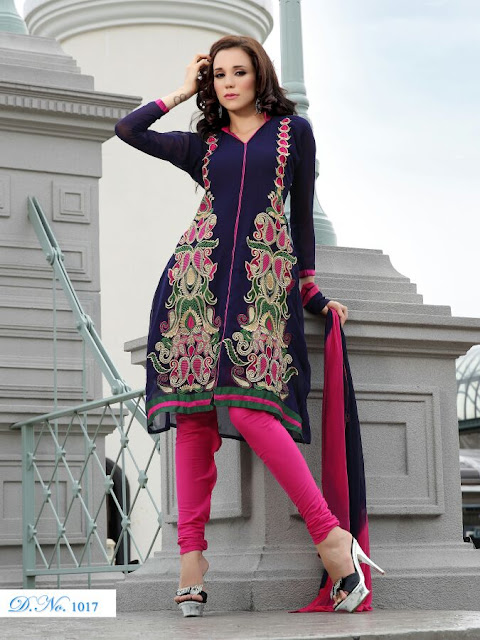 Designer Anarkali Salwar Kameez, Fancy Embroidery Anarkali Salwar Suits in UAE