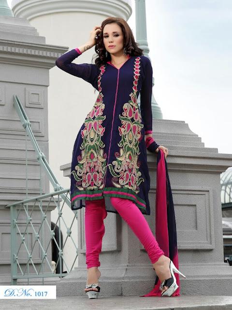 Designer Anarkali Salwar Kameez, Fancy Embroidery Anarkali Salwar Suits in UAE