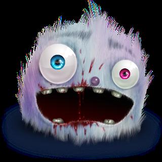 Ikon Bergambar Monster Yang Unik