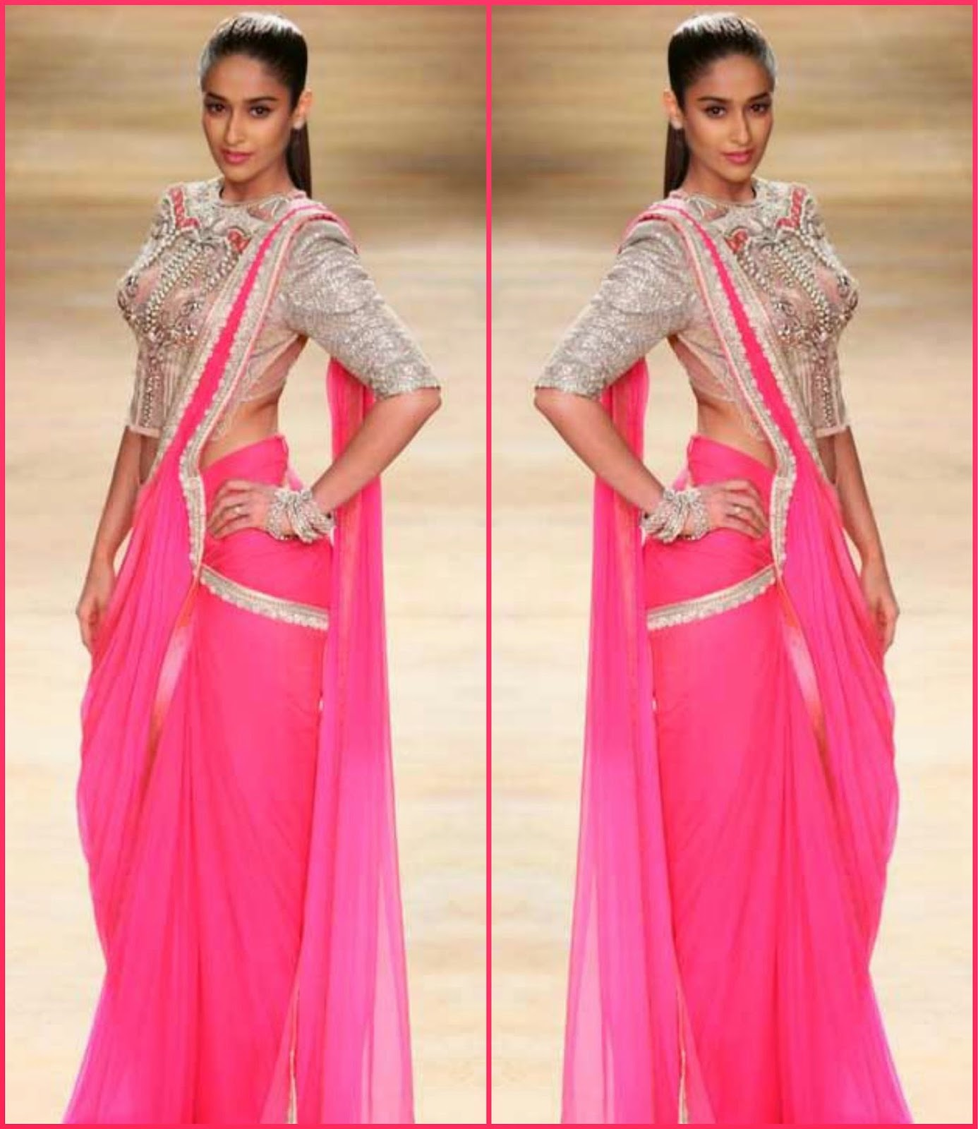 Ileana at indian couture week 2014, ileana walks for sulakshana ICW 2014
