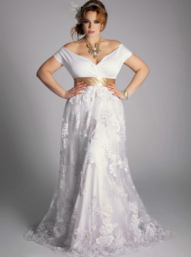 Celtic Rose Plus Size Wedding Dresses Belts Design
