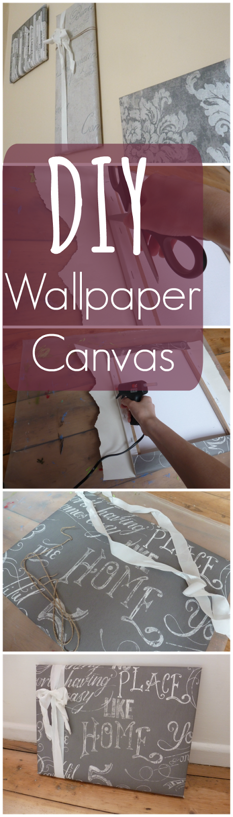 DIY Wallpaper Canvas Cover