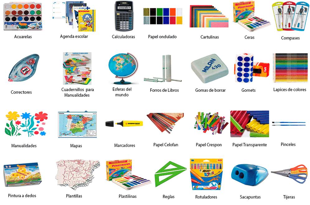 Mercadillos and markets recogida de material escolar for Material de oficina en ingles
