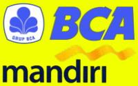 Pembayaran melalui transfer ke BCA dan Mandiri.