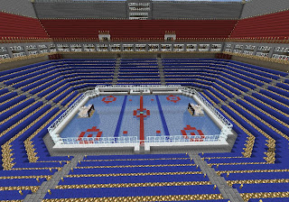 Minecraft Ice hockey arena