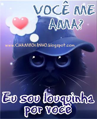 Recadinho de Amor Gatinho para Facebook