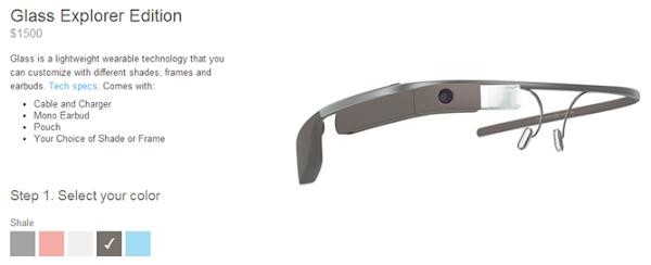 Select Google Glass color