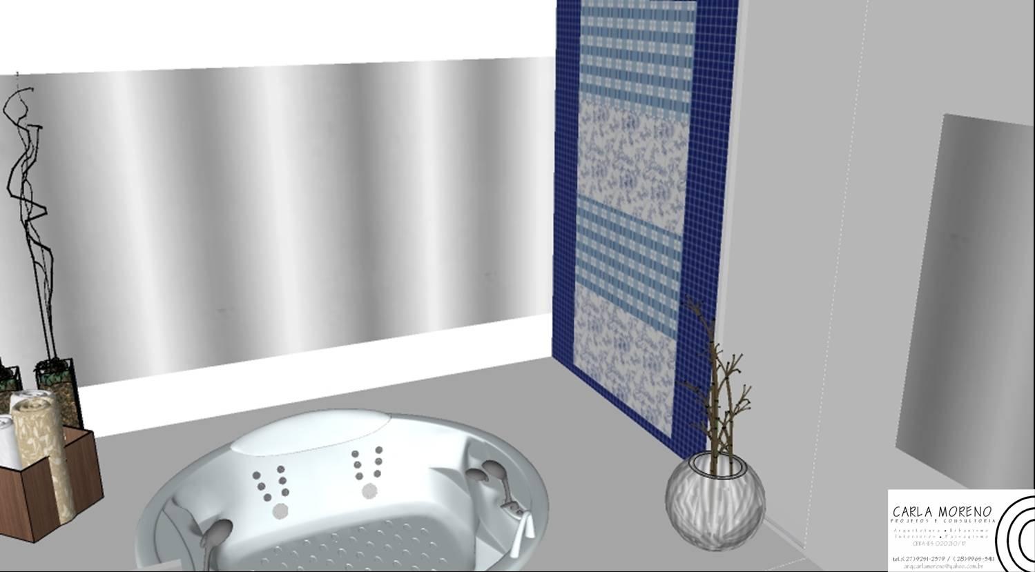 Banheira de hidromassagem redonda H12 da Astra recebe deck e  #262D5D 1499x829 Bancada Banheiro Astra