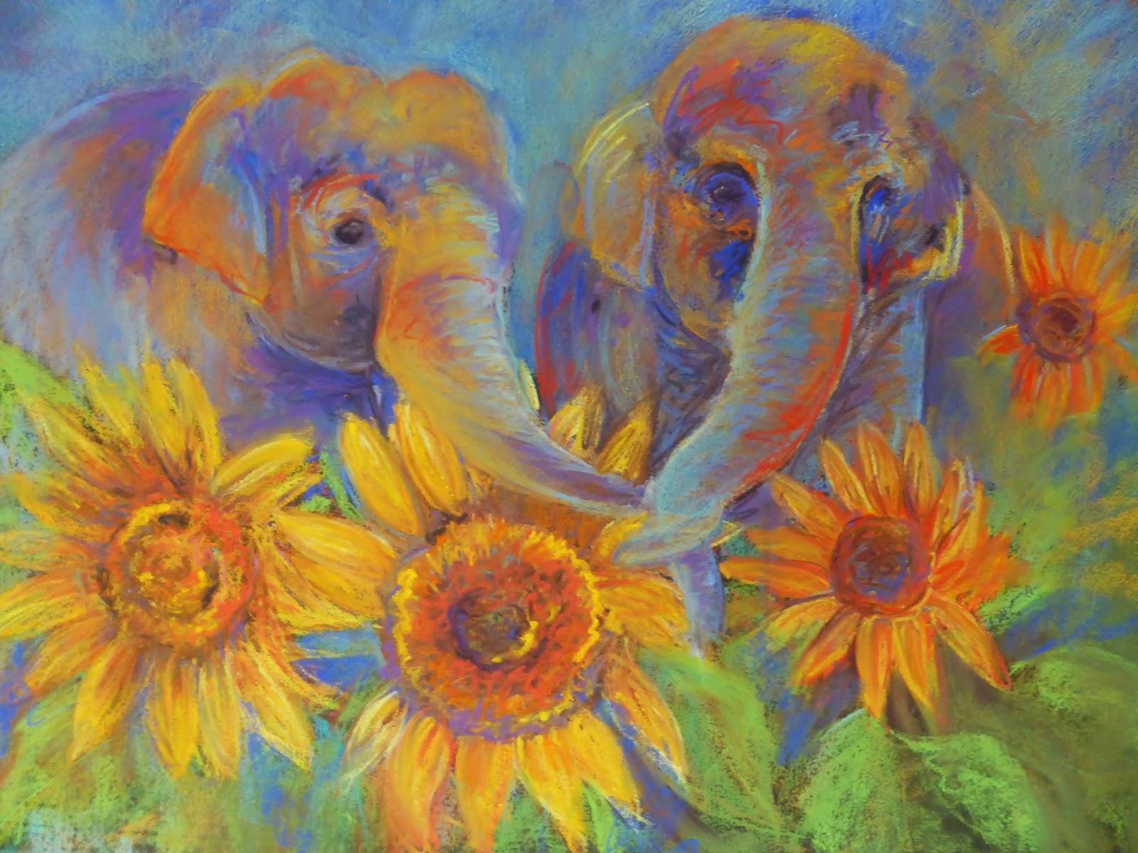 Kay S Art Sunflowers And Elephants A Sun Flower Fantasy