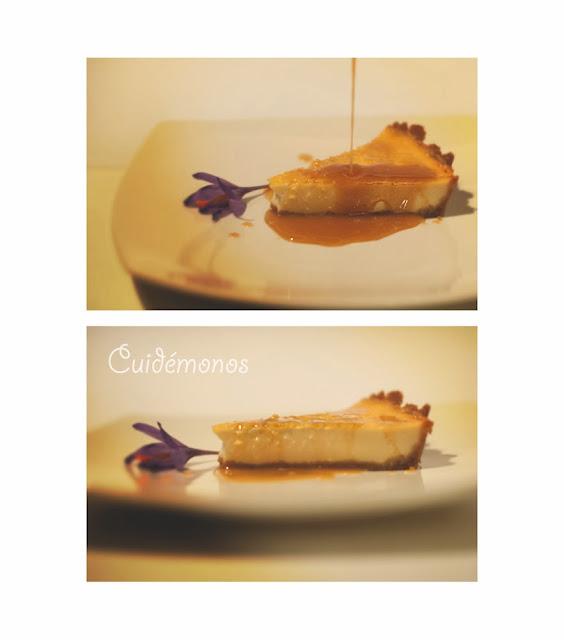 Tarta de queso y vainilla