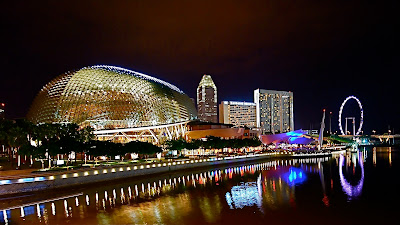Esplanade Singapore, holiday in singapore, merlion park
