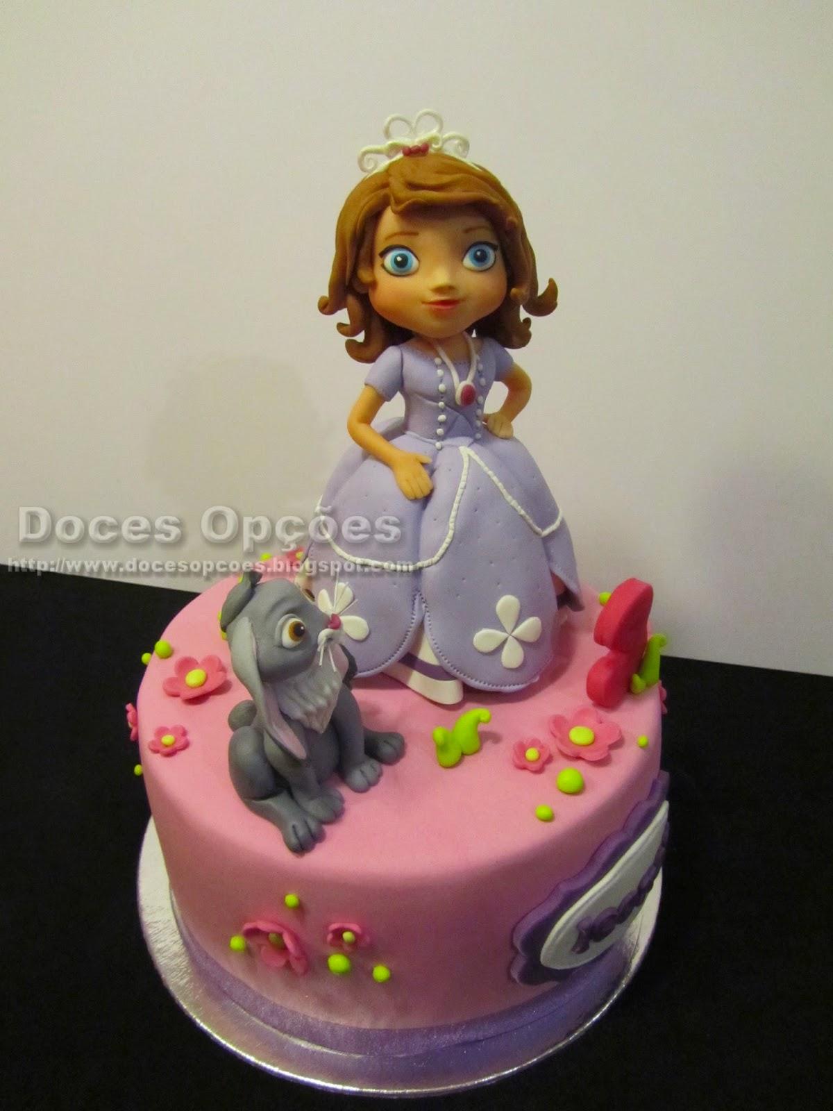 bolo decorado princesa bragança