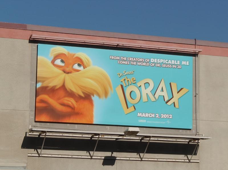 The Lorax movie billboard