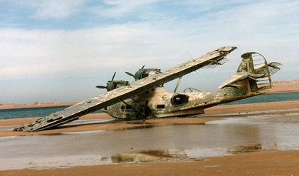Hidroavión abandonado