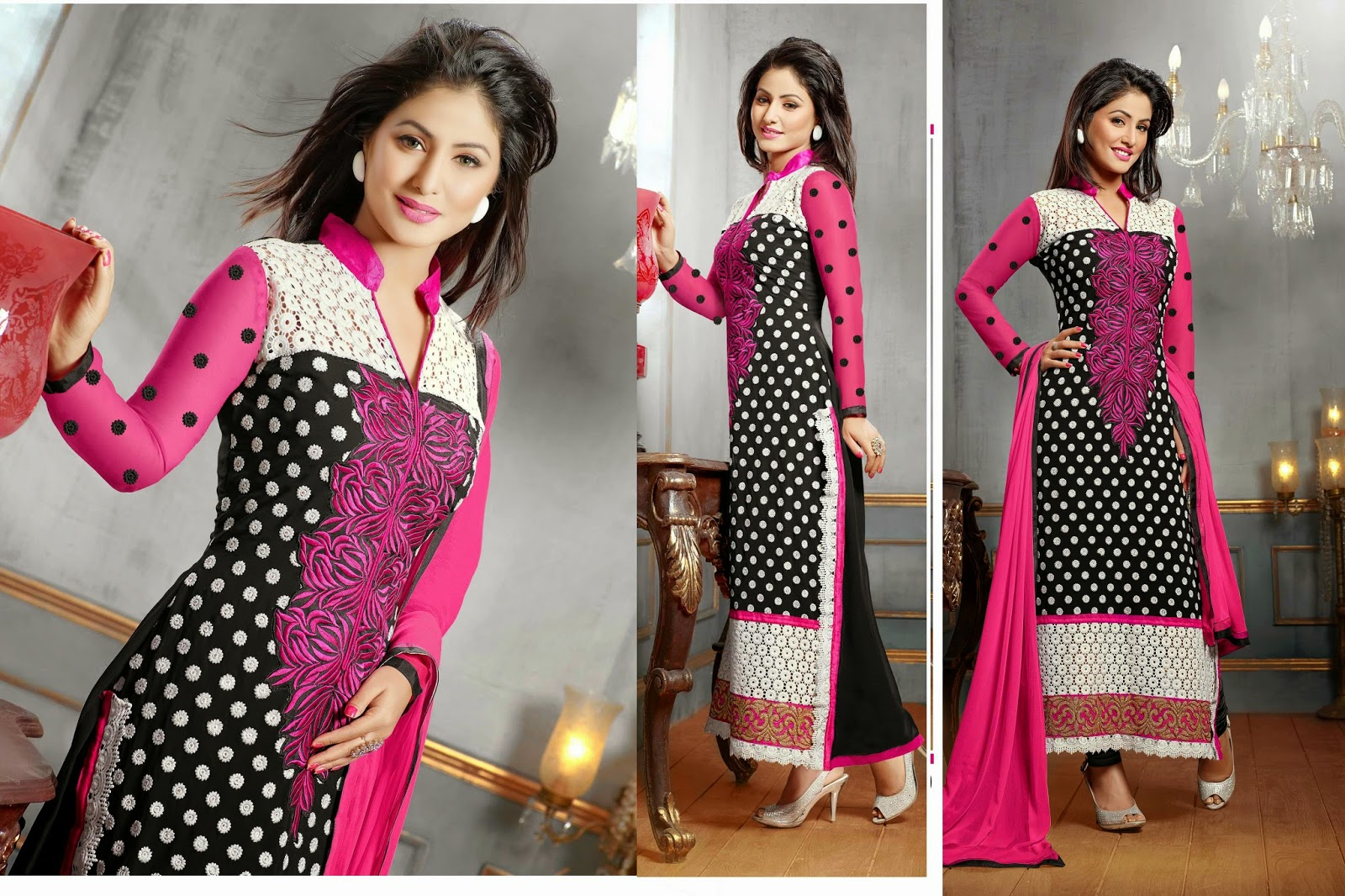 Hina khan akshara latest designer salwar kameez designs health