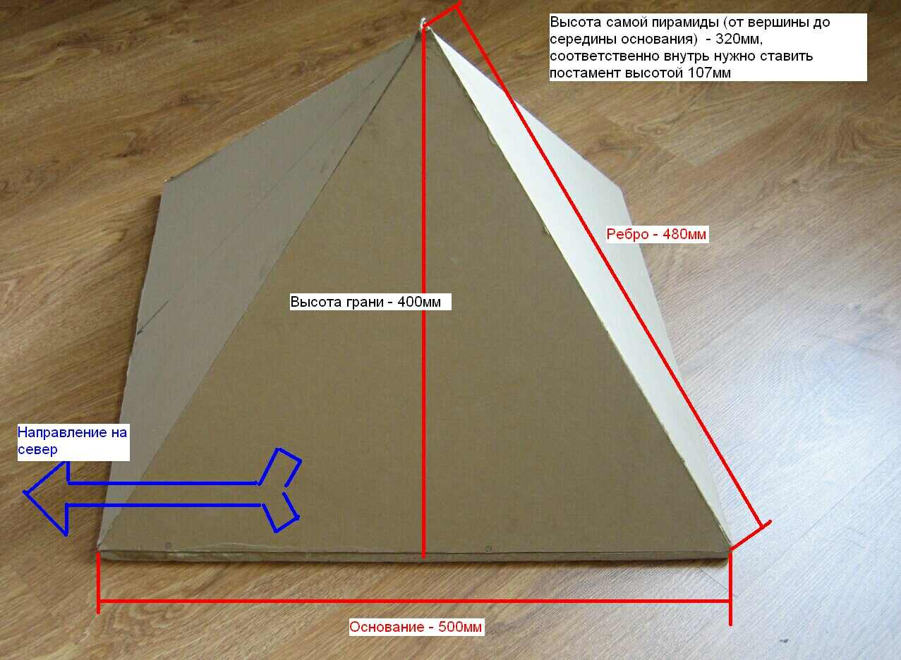 Как построить пирамиду исцеляющую своими руками
